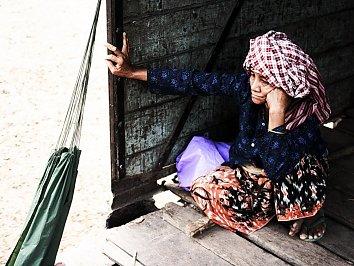 Frau Indochina Hintergrundbild