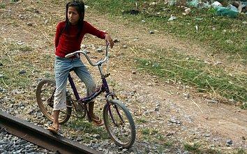 Indochina Fahrrad Hintergrund Bild