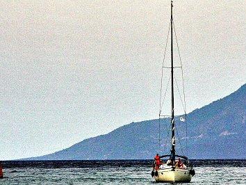 Segelboot Bildschirmhintergrund