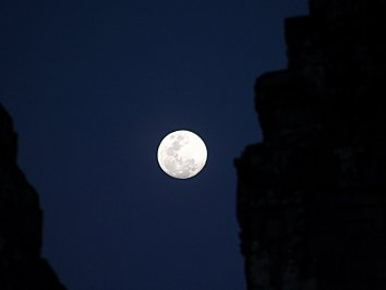 Asien Vollmond Backdrop