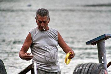 Angler Mann Hintergrund Bild