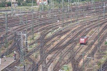 Bahnhof Gleise Hintergrund Bild