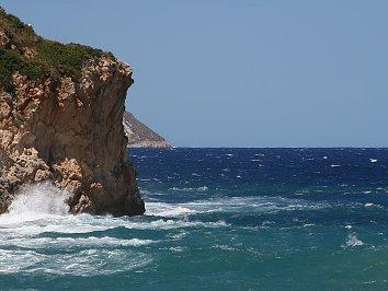 Felsen Kueste Hintergrund Bild